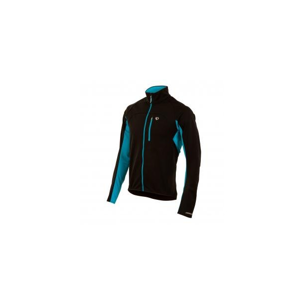 Pearl Izumi Vinter Jakke Elite Softshell sort/electric blue