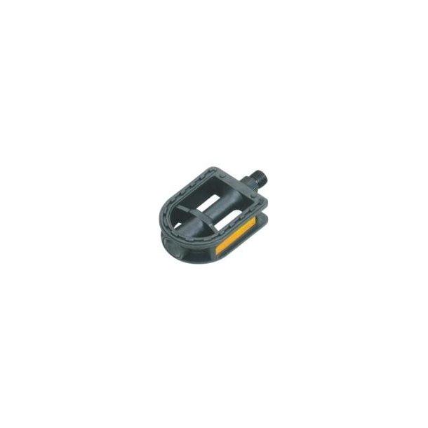 Pedal børnecykel størrelse 9/16 sort nylon