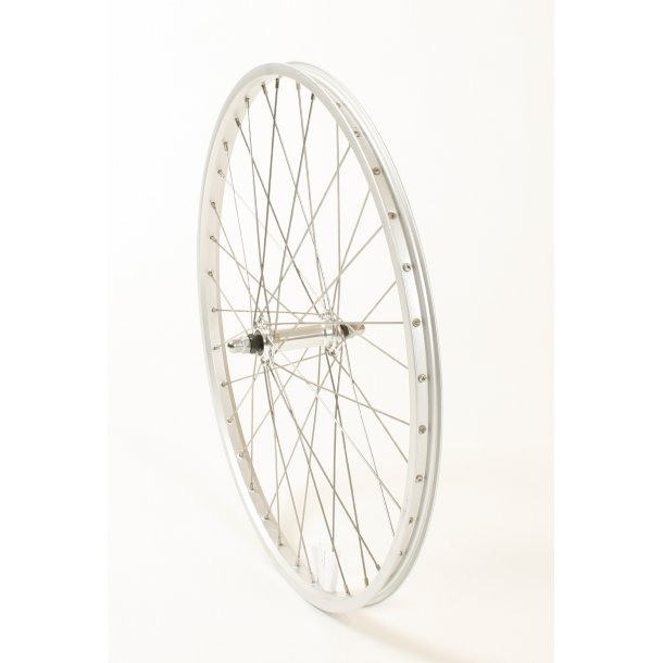 Forhjul 24 x 1,75 alu fælg sølv