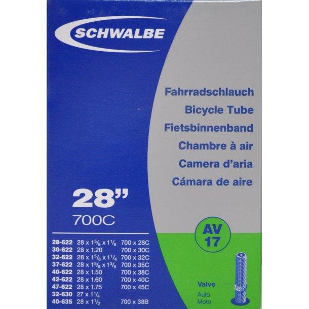 Cykelslange med Autoventil 28x 1,2