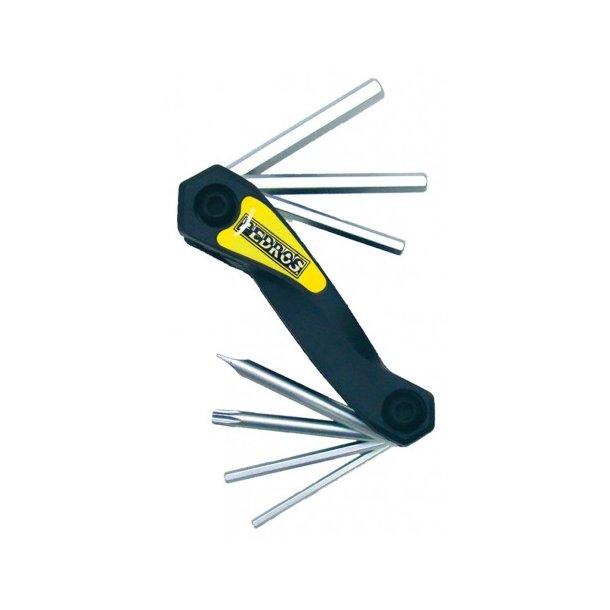 Pedros mini værktøj med umbrokko nøgler, skruetrækkere og Torx T25
