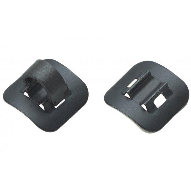 Kabelholder / click on beslag Clip On Cable Guide Alu Sort (4 stk)