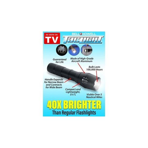 Ultrafire vandtæt zoom LED-lommelygte i kraftig aluminium med justerbar lyskegle