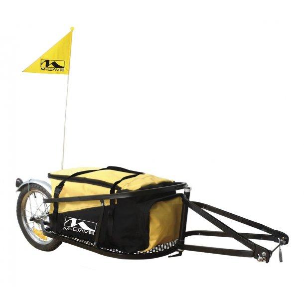 Cykelanhænger (Camping anhænger) M-Wave ethjulet til Quick releace, sort