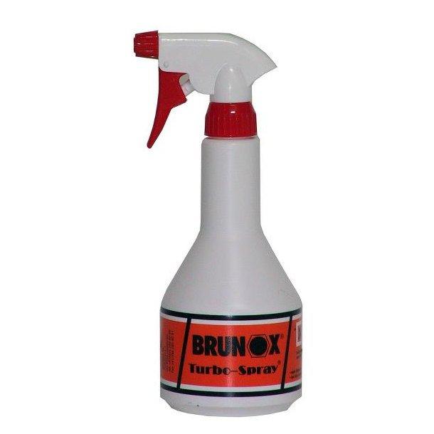 Forstøver sprøjte fra Brunox - Med 0,5 l Kroon-o-Sol affedtnings vædske påfyldt!