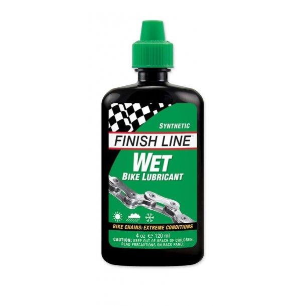 Olie Finish Line Wet (Cross country) 120ml flaske - grøn
