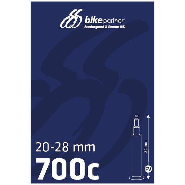 Slange 700x20-28C FV80  20/28-622/-630  BikePartner uden gevind