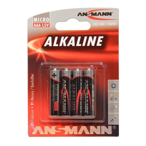 Alkine AAA 1,5V batteri, 4 stk