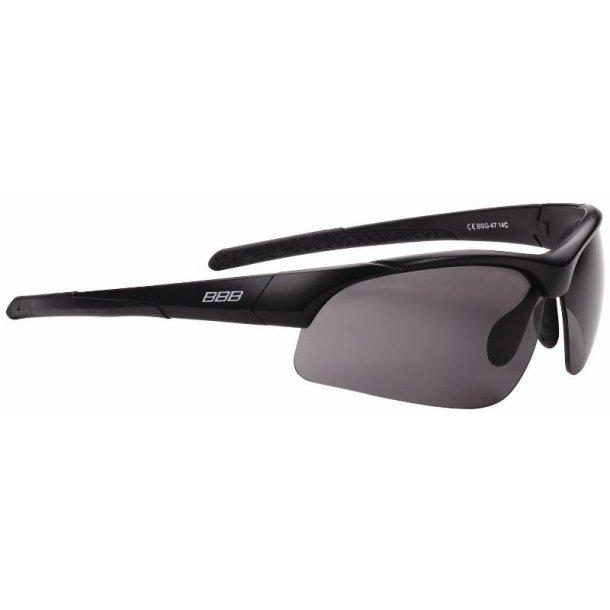 Solbrille / cykelbrille BBB Impress  Matsort stel mørk+klar+gul