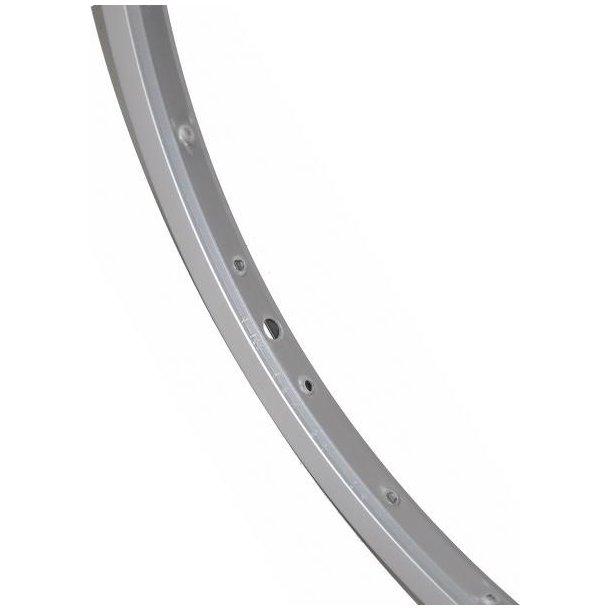Fælg 700C Aluminium, Sølv enkeltbund 36h udv. 26.indv.19