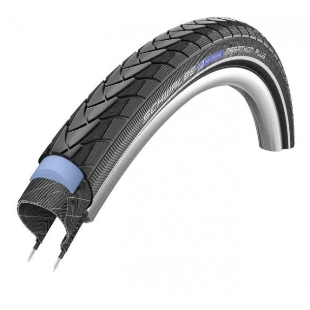 Dæk Schwalbe 26x1 3/8  Sort Marathon Plus Smart Guard (37-590)