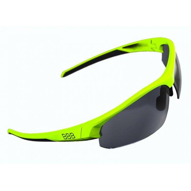 Solbrille BBB Impress Neon gul stel BSG-58 røg+klar+gul linse