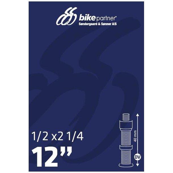 Slange 12x1/2x2 1/4 DV40  47/62-203 / 12x1,75-2,10  BikePartner