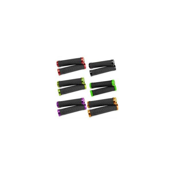 Sixpack farvede greb / håndtag med farvede spænd-ringe