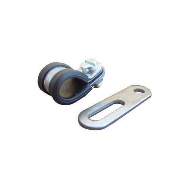 Beslag HEBIE kædeskærm  Til montering bag