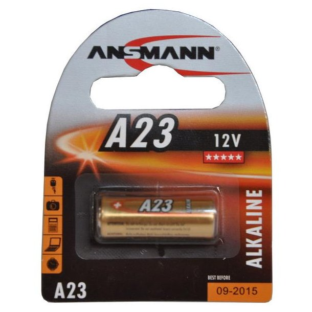 Element / Batteri ANSMANN (10)  V23GA 12V (1 stk. blister)  Alkaline A23 23GA MN21 LRV08